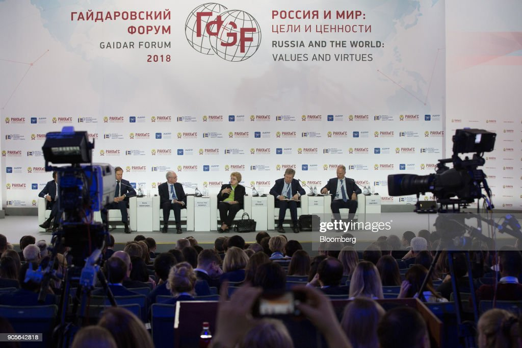 Key Speakers At Moscow's Gaidar Forum