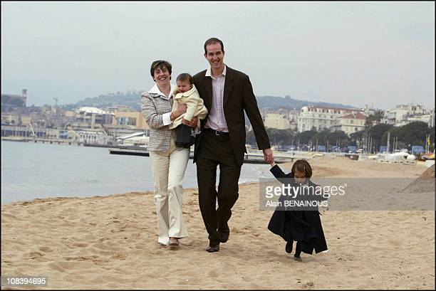 From left to right Princess Marie Liesse holding her son HRH Prince Pierre of Orleans with husband Prince Eudes of Orleans and daughter HRH Princess...