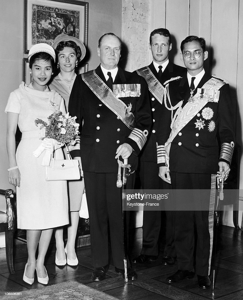 The Royal Couple Of Thailand In Norway, 1960 : News Photo