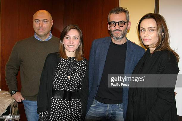 From left to right Raffaele Verzillo Giuliana Vigogna Antonio Friello Francesca Neri during the preview of the film Il Vuoto directed by Raffaele...