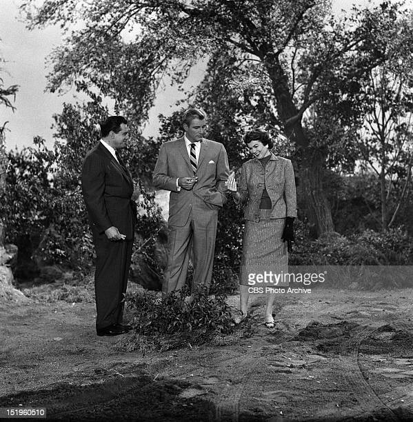 Raymond Burr William Hopper and Barbara Hale Episode Case of the Lazy Lover Image dated April 15 1958
