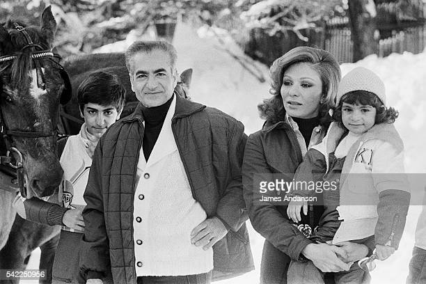 Reza II Pahlavi the Crown Prince their father the Shah of Iran Mohammed Reza Shah Pahlavi his wife and mother HIM Farah Pahlavi Empress of Iran...