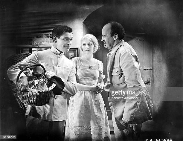 From left to right Ronald Colman Ann Harding and Dudley Digges star in the Samuel Goldwyn film 'Condemned'