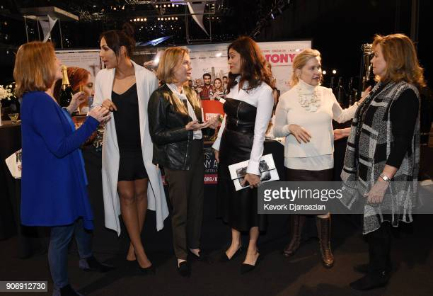 From left to right SAG Awards Executive producer Kathy Connell SAG Awards nominee Amanda Brugel SAG Awards Committee Chair SAFAFTRA Foundation...