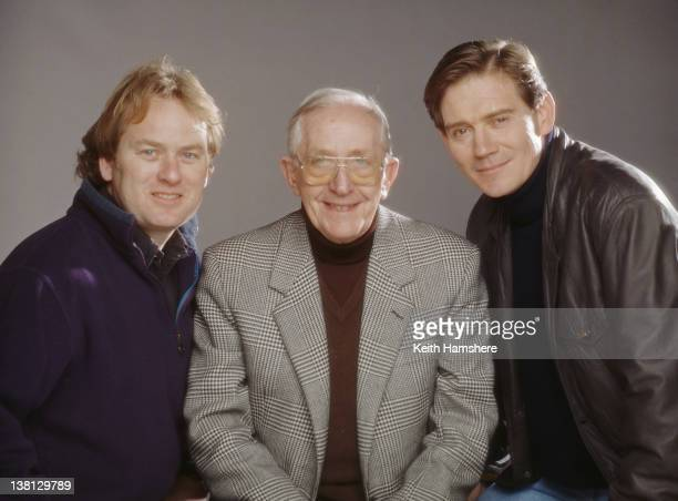 From left to right screenwriter Timothy Prager director Lewis Gilbert and actor Anthony Andrews in a publicity still for the film 'Haunted' 1995