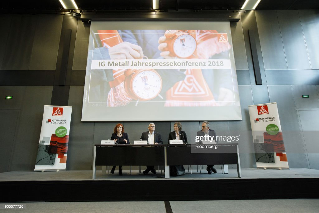 IG Metall Labour Union Annual News Conference