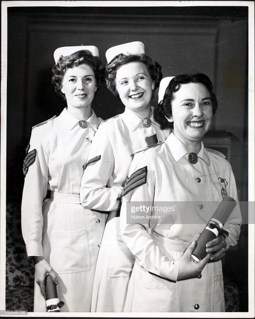 Three Army Trained Nurses : News Photo