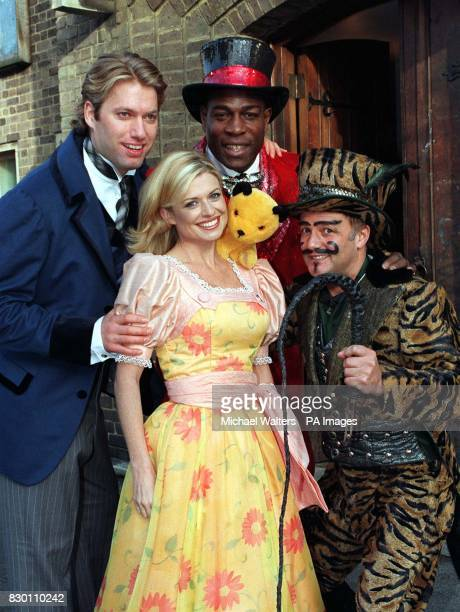 From left to right Stephen Beckett PC Jarvis from the Bill Emily Symons with kids favourite Sooty Frank Bruno Former Heavyweight boxer and Actor Karl...