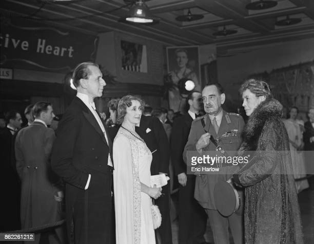 From left to right the 2nd Viscount Leverhulme Treasurer of the Premiere Committee Lady Anne DalrympleChampneys Chairman of the Committee Field...