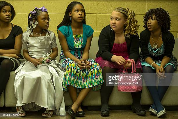 MARCH 16 from left to right Tyona TealEllis Shavondra Harkless Kayla Lewis Alexis Atkins and Shaniya LasterWilliams 9 patiently wait for the sheriff...