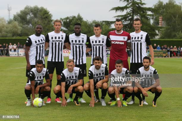 Gilles Sunu Baptiste Guillaume Ismael Traore Pierrick Capelle Alexandre Letellier and Romain Thomas of Angers From left to right down Angelo Fulgini...