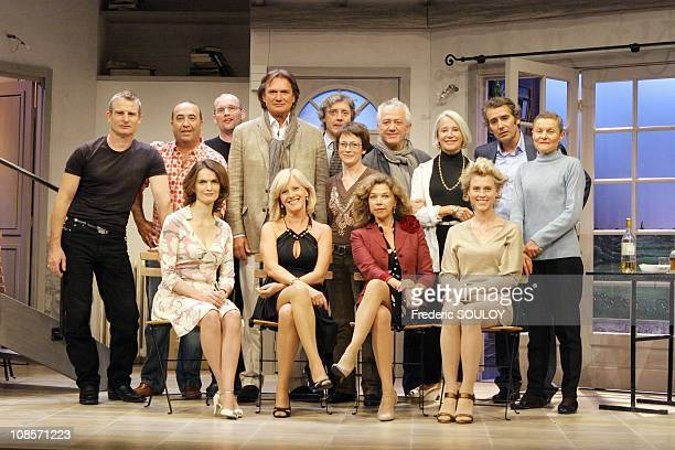 From left to right Up Roland Marchisio Manuel Gelin Francois Eric Gendron Jean Luc Moreau Down Veronique Boulanger Elisa Servier Sabine Haudepin and...