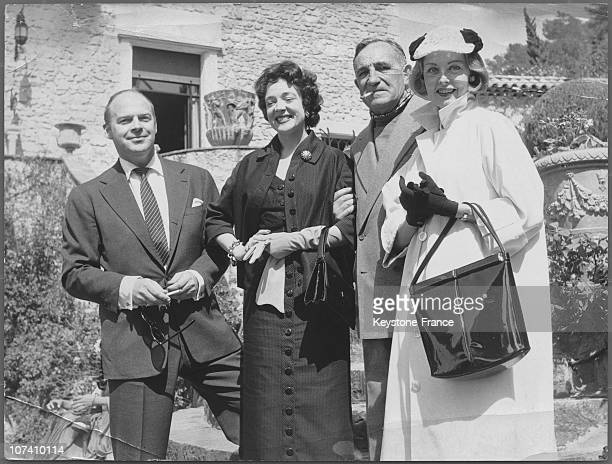 From Left To Right William Marshall Micheline Presle Charles Vanel And Arlene Dahl In 1954