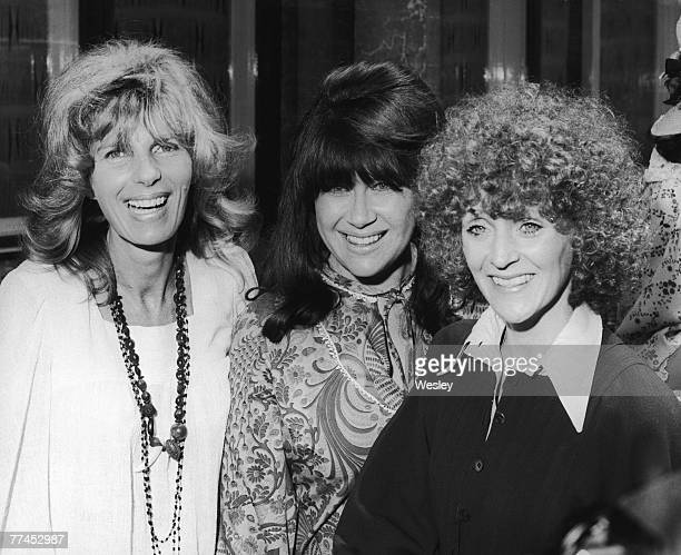 From left to right writer Carla Lane and actresses Nerys Hughes and Polly James of British sitcom 'The Liver Birds' attend a 'Ladies of Television'...