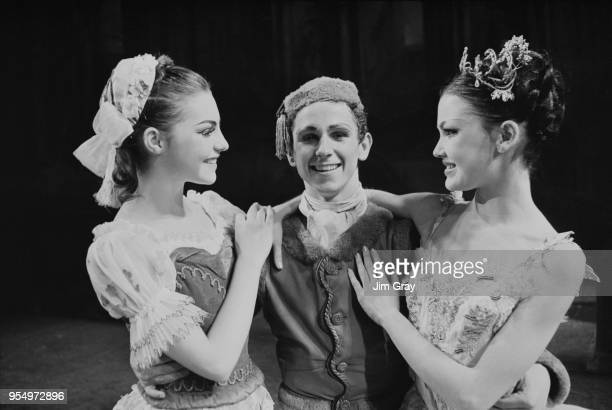 From left to right young ballet dancers Georgina Sibley as Swanhilda in 'Coppelia' Wayne Sleep as the Blue Boy in Les 'Patineurs' and Caroldene Horne...