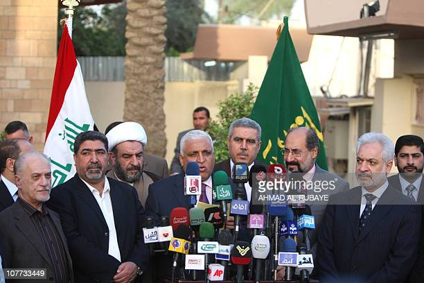 Iraqi Oil Minister Hussein ALShahristani Nassar alRubaie from the radical Sadrist movement Shiekh Abdul Halim alZuheiri Minister of Education Khudair...