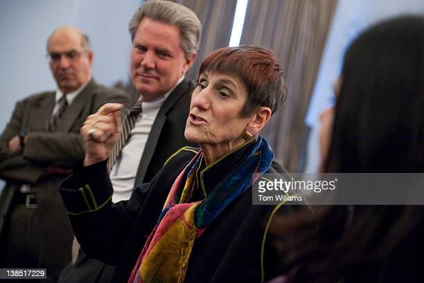 From left, Tony Corbo, assistant director of Food & Water Watch, Rep. Frank Pallone, D-N.J., Rep. Rosa DeLauro, D-Conn., and Ami Gadhia, senior...