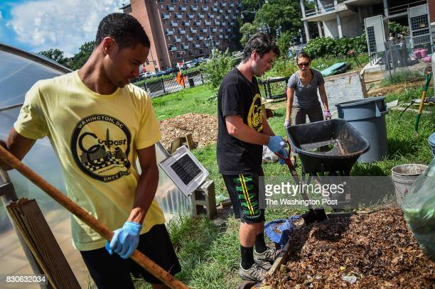 From left Trent Cummings Charles Knoff both work as a compost cabbie with Compost Cab process food waste material with Linda Bilsens Brolis project...