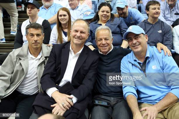 From left UNC men's soccer head coach Carlos Samoano UNC women's soccer head coach Anson Dorrance United States Men's National Team head coach Dave...