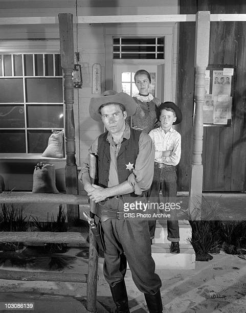 William Shatner Joanne Linville and Kevin Coughlin in Old Marshals Never Die Image dated July 23 1958