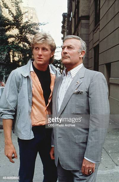 From left William Zabka as Scott McCall and Edward Woodward as Robert McCall in The Equalizer Image dated October 1 1985