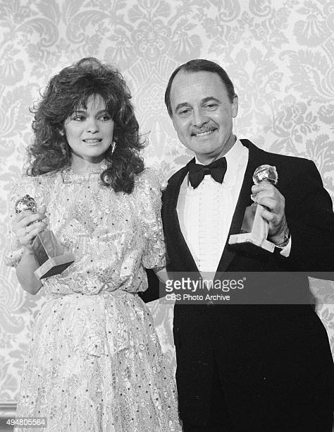 From left winners of the Golden Globe Awards categories Best Supporting Actress Valerie Bertinelli and Best Supporting Actor John Hillerman Image...