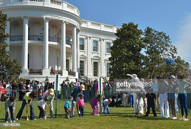the Easter Bunny US President Barack Obama internet star 'Kid President' Robby Novak First Lady Michelle Obama Sasha Obama Malia Obama watch children...