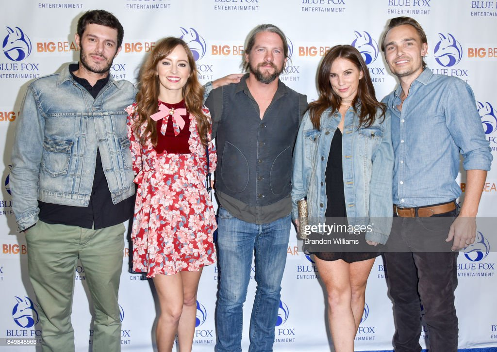 Actors Adam Brody, Ahna O'Reilly, Zachary Knighton, Heidi Heaslet, and actor / director / writer Joey Kern attend the premier of Blue Fox Entertainment's 'Big Bear' at The London Hotel on September 19, 2017 in West Hollywood, California.