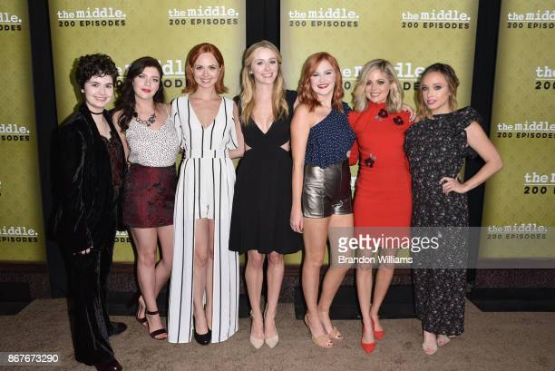 From LR Actors Kaitlen Mandrea Blaine Saunders Galadriel Stineman Greer Grammer Grace Bannon Brittany Ross and Natalie Lander attend ABC's The Middle...