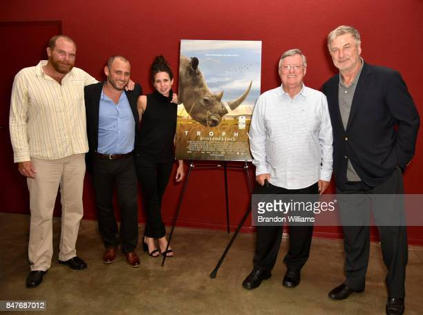 From LR Conservationist Chris Moore directors Shaul Schwarz and Christina Clusiau conservationist John Hume and actor / producer Alec Baldwin at...
