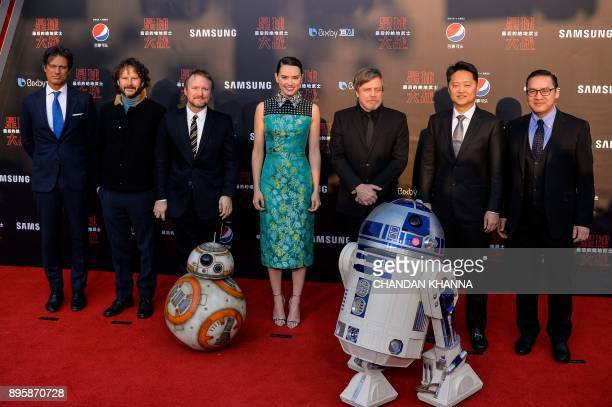 General manager of Shanghai Disney Resort Philippe Gas Israeli film producer Ram Bergman US film director Rian Johnson British actress Daisy Ridley...
