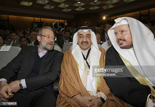 Iranian Parliament Speaker Ali Larijani the speaker of the Kuwaiti National Assembly Jassem alKharafi and the chairman of the Saudi Shura council...
