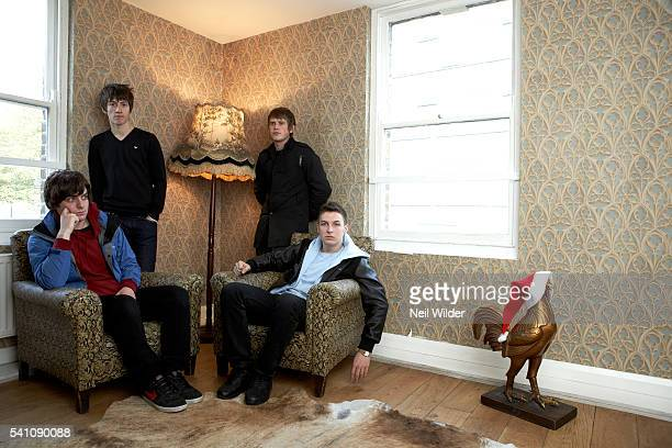Matt Helders, Alex Turner, Jamie Cook, and Nick O'Malley.