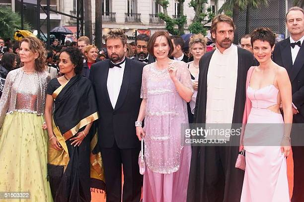 From LR Members of the jury French actress and director Nicole Garcia Indian writer Arundhati Roy French director and producer head of the jury Luc...