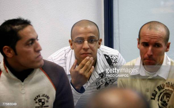 From LR Rachid Aglif Rafa Zouhier and Abdelilah El Fadoual three of the 28 defendants accused of being involved in the bombing attacks against...