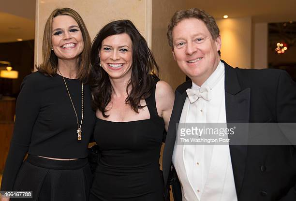 From LR Savannah Guthrie Meredith Webster and Michael Michael Feldman arrive at the Gridiron Club Dinner at the Renaissance Hotel in Washington DC on...