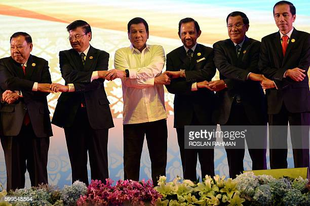 Vietnam's Prime Minister Nguyen Xuan Phuc Laos Prime Minister Thongloun Sisoulith Philippine President Rodrigo Duterte Brunei's Sultan Hassanal...
