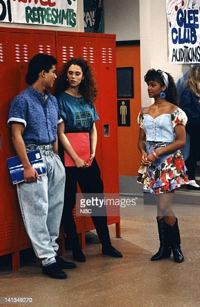 "From Nurse to Worse"" Episode 16 -- Air Date -- Pictured: Mario Lopez as A.C. Slater, Elizabeth Berkley as Jessie Spano, Lark Voorhies as Lisa Turtle..."