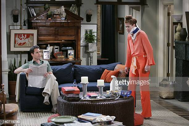 WILL GRACE 'From Queer to Eternity' Episode 22 Pictured Eric McCormack as Will Truman Debra Messing as Grace Adler Photo by Chris Haston/NBCU Photo...