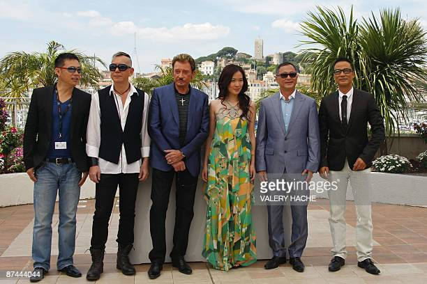 Actors Simon Yam of Honk Kong director Johnnie To actors Michelle Ye French singer and actor Johnny Hallyday Anthony Wong and SiuFai Cheung of Hong...