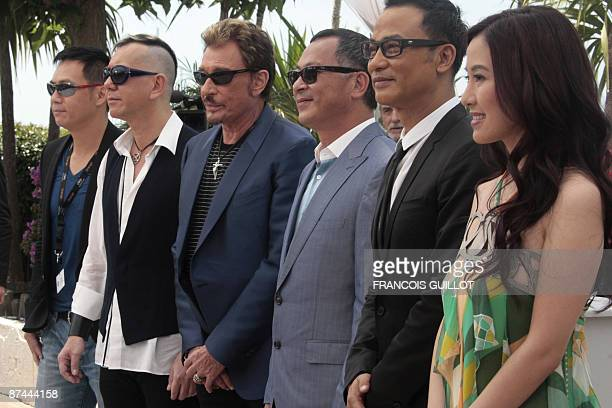 Actress Michelle Ye of HonkKong actor Simon Yam director Johnnie To French singer and actor Johnny Hallyday Anthony Wong and SiuFai Cheung of Hong...