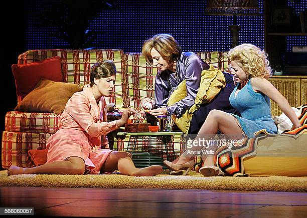 Stephanie Block as Judy Bernly Allison Janney as Violet Newstead Megan Hilty as Doralee Rhodes get stoned in Violet's home these photos were shot at...