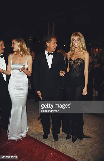 From right to left German fashion model Claudia Schiffer Gilles Dufour and Vendela Kirsebom at the 14th annual CFDA Fashion Awards New York City USA...