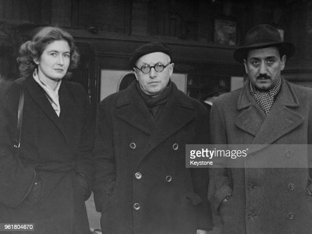 From right to left Italian writer Ignazio Silone Pietro Nenni leader of the Italian Socialist Party and Deputy Prime Minister of Italy and journalist...