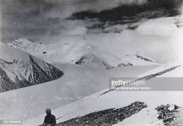 From Rongbuk East Glacier North. By E.O. Wheeler. Mount Everest Expedition 1921.