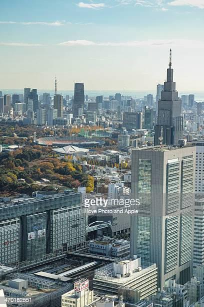 from Shinjuku to Tokyo tower