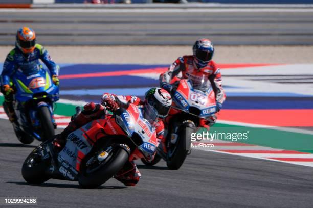 LORENZO from Spain Ducati Team Ducati Desmosedici GP18 Gran Premio Octo di San Marino e della Riviera di Rimini during the Sunday Race at the Marco...