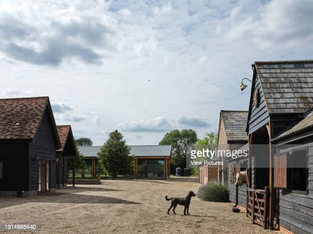 From stables to manage. Indoor Equestrian Centre, Hertfordshire, United Kingdom. Architect: Atelier Architecture & Design Ltd, 2020.