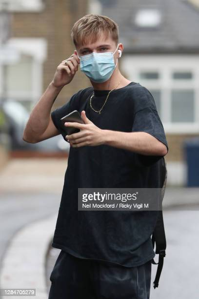 From Strictly Come Dancing 2020 seen arriving at a rehearsal studio on November 09, 2020 in London, England.