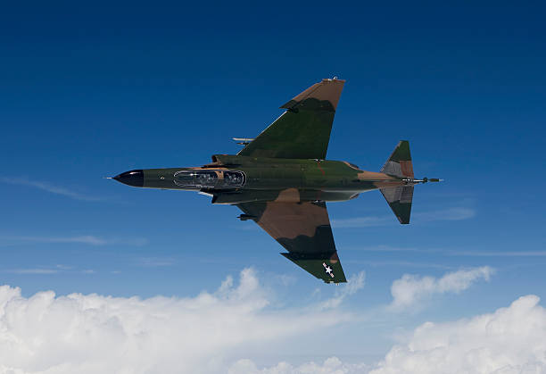 A QF-4E from the 82nd ATRS flies over the Gulf of Mexico during a training sortie out of Tyndall Air Force Base, Florida.